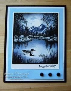 a loon alone... by SChristoph - Cards and Paper Crafts at Splitcoaststampers