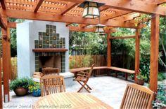 pretty patio area