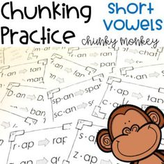 Hundreds of phonics word activities to help students with the chunking reading strategy. Teachers, parents and other paraprofessionals will be teaching children to recognize bigger chunks in words rather than reading sound by sound with the fun ideas in t