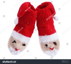 knitted noses edges in the form Santa Klaus
