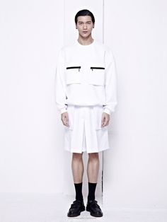 White Sweater with front pockets by PATH in #WeAreSelecters Stores