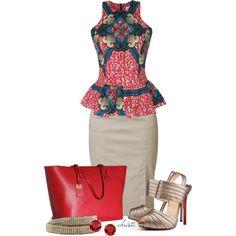 ♥African Fashion ● Peplum Top
