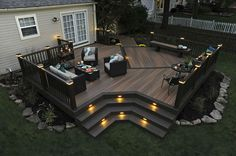 Ideas to transform your backyard into an outdoor living space. From decks to porches to patios, discover design tools, design ideas, a project calculator & more. Synthetic Decking, Design Jardin, Backyard Patio Designs, Deck Patio, Deck Bar, Cozy Backyard, Backyard Decks, Patio Ideas, Pergola Ideas
