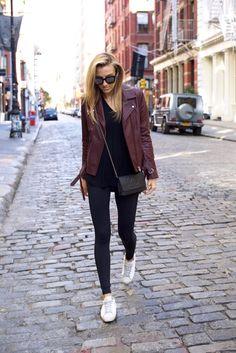 Carbon38-NYC Street Syle-Activewear-IRO Moto Jacket-Fitness-Health