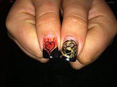 flame nail art - Google Search