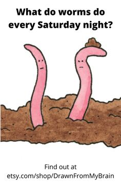 Like weird humor? Make your bathroom a lot more fun with an art print from Drawn from My Brain! This collection offers a wide variety of subjects, such as funny animal art, bizarre humor, weird art, and more! Your bathroom interior will never be the same. Check it out! #etsy #etsyartist #bathroomart #earthworms #bathroomdecor
