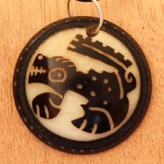 Mens Necklace - Animal Carved in Tagua