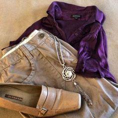 Van Heusen Khaki Capris Single button, front zip dark khaki capris. 2 back pockets and 3 button detailing at hem (3rd photo). Like new! Van Heusen Pants Capris