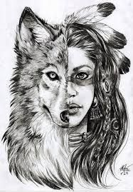 Image Result For Female Warrior Wolf Tattoo Native American Wolf Native American Tattoos Wolf Tattoos