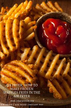 Air Fryer, How to Make Frozen Waffles Fries in the Air Fryer - Air Fryer Recipes Frozen Sweet Potato Fries, Freeze Sweet Potatoes, Frozen Potatoes, Sweet Potato Waffles, Cooking Sweet Potatoes, Air Fryer Recipes Appetizers, Air Fryer Recipes Vegetarian, Air Fryer Dinner Recipes, Air Fryer Recipes Easy