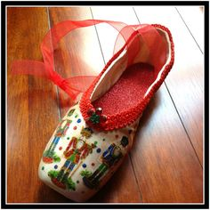 Nutcracker Ballet Pointe Shoe by LisaHarrisonDesign on Etsy, $50.00