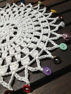 Love the button edge crochet