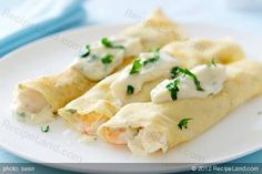 Im gonna use crab monkfish recipes Seafood Recipes, Cooking Recipes, Seafood Crepes Recipe, Pancake Recipes, Seafood Dishes, Monkfish Recipes, Pancakes, Savory Crepes, Crepe Recipes