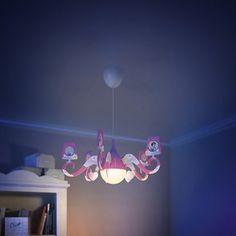 Mooie roze Princess-kroonluchter   Kinderlamp voor kinderkamer