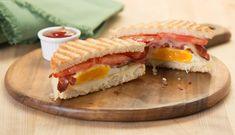 bacon egg swiss panini