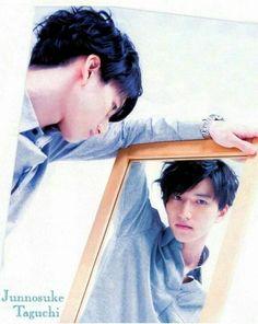 #Taguchi_Junnosuke #KATTUN #Junnosuke_Taguchi #Japanese Japanese Boy, Beautiful Smile, Your Smile, Boy Bands, Fangirl, Idol, Polaroid Film, Boys, People