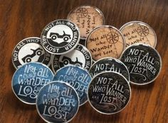 Not all who #wander are lost #geocache swag pocket tokens #mixed lot of 12, View more on the LINK: http://www.zeppy.io/product/gb/2/111837556497/
