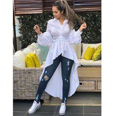 Fashion - Fashion Casual Hijabi Jeans 38 New Ideas Fashion Mode, Trendy Fashion, Womens Fashion, Sara Fashion, Chic Outfits, Trendy Outfits, Fashion Outfits, Indian Designer Outfits, Designer Dresses