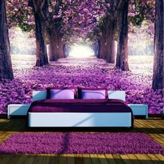 flowers forest mural