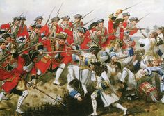 First Foot Guards at the Battle of Malplaquet 11th September 1709 War of the Spanish Succession