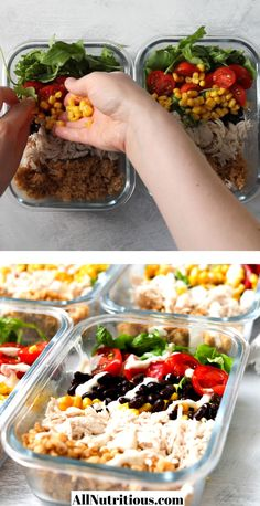 Healthy High Protein Meals, Easy Healthy Meal Prep, Healthy Dinner Recipes, Healthy Snacks, Eating Healthy, Healthy Dinners, Chicken Recipes For Lunch, Meal Prep With Chicken, Chicken Dinner Meals