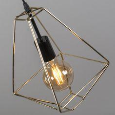 Lámpara colgante FRAME A oro #iluminacion #decoracion #interiorismo