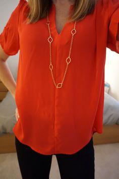 Necklace, shirt, pants all from first Stitch Fix Box... Kept it all! January 2015 Www.gracepurposeandpearls.blogspot.com/