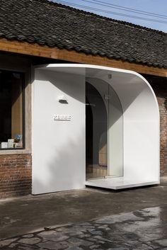 Gallery of Town Folktales / FON STUDIO - 50 - minimalist modern architecture - Architecture Design, Facade Design, Door Design, Retail Interior, Interior Exterior, Exterior Design, Retail Facade, Shop Facade, Commercial Design