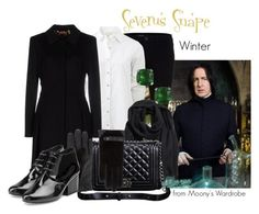 """Severus Snape: Winter"" by evalupin ❤ liked on Polyvore featuring J Brand, rag & bone, ESCADA, H&M, Jewel Exclusive, Relaxfeel, Monsoon, Robert Clergerie, Winter and harrypotter"