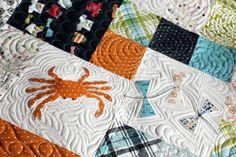 Lucy's Crab Shack quilt     Stitch by Stitch