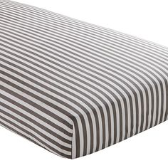 Organic Grey Stripe Crib Fitted Sheet