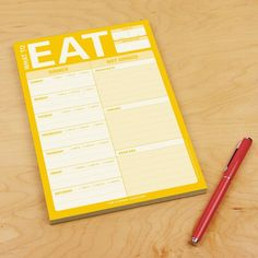 A meal-planning pad that's great for busy households or just single people wanting to get the best out of every meal. | 37 Gifts For Anyone Who Is Always Hungry