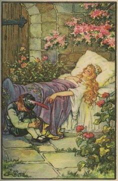Sleeping Beauty -- G. M. Burd -- Fairytale Illustration by SAburns