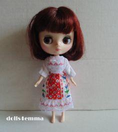 MIDDIE BLYTHE Doll clothes Ukranian DRESS + SKIRT Fashion ........ $16.00