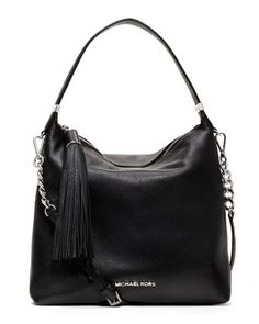 MICHAEL Michael Kors  Medium Weston Pebbled Shoulder Bag. pretty good!!