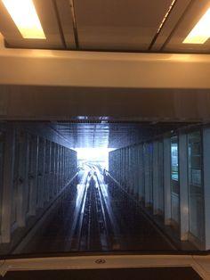 when I took Sky train in Frankfrut airport.