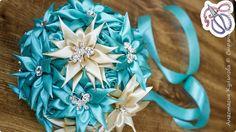 Свадебный букет Дублёр своими руками из ленты | Страна Мастеров