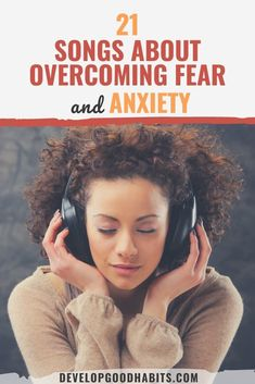 21 Songs About Overcoming Fear and Anxiety What Is Anxiety, How To Calm Anxiety, Anxiety Tips, Anxiety Help, Mental Health Facts, Mental Health And Wellbeing, Mental And Emotional Health, Mental Health Awareness, Ocd Facts