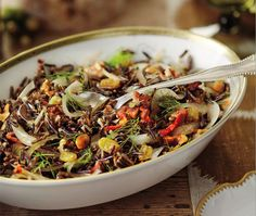 Wild Rice With Bacon And Fennel Recipe