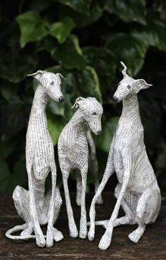 beautiful paper dogs