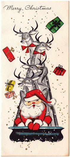 Santa and friends sledding!