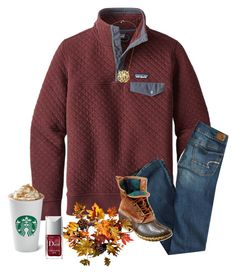 """Good for fall"" by southerngirls19 ❤ liked on Polyvore featuring Patagonia, American Eagle Outfitters, L.L.Bean, Improvements and Christian Dior"