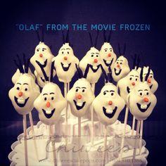 Olaf cake pops      Via Chiwee's Cake Pops