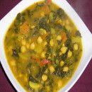 Potaje de garbanzos y espinacas   #Recetas de cocina   #Veganas - Vegetarianas ecoagricultor.com