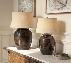 Courtney Ceramic Table Lamp Base - Espresso #potterybarn..... Love this lamp and the fact it's named after me!  :)