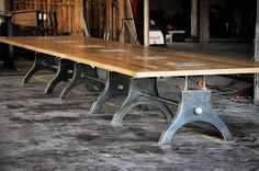 24' Hure conference table with oak top and 12 dataports.