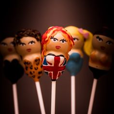 Delish Spice Girls cake pops - the girls are still Top of the Cake Pops! www.wearedelish.com