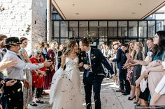 Wedding exit photography with silver confetti, exit ideas