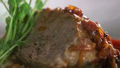 SB Cuisine vous suggère de satisfaire délicieusement votre appétit avec ce Snapie! Pain de viande bacon et oignon compoté. Mmm... Nutrition, Meatloaf, Bacon, Food, Stuffed Meatloaf, Onion, Main Courses, Cooking Food, Recipes