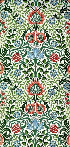 (William Morris)  Christmas Colors www.labstyle333.com www.lablikes.tumb... www.pinterest.com...